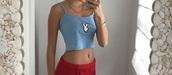 shirt,playboy,tank top,top,blue