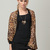 Loose Patchwork Batwing Sleeve Leopard Print Chiffon Shirt - CA$11.01