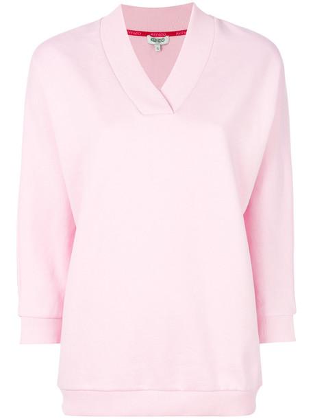 Kenzo sweatshirt women cotton purple pink sweater