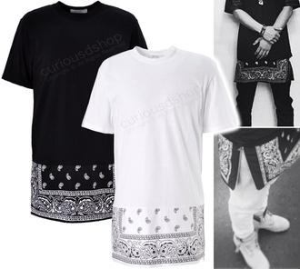 shirt bandana print guys drake skirt