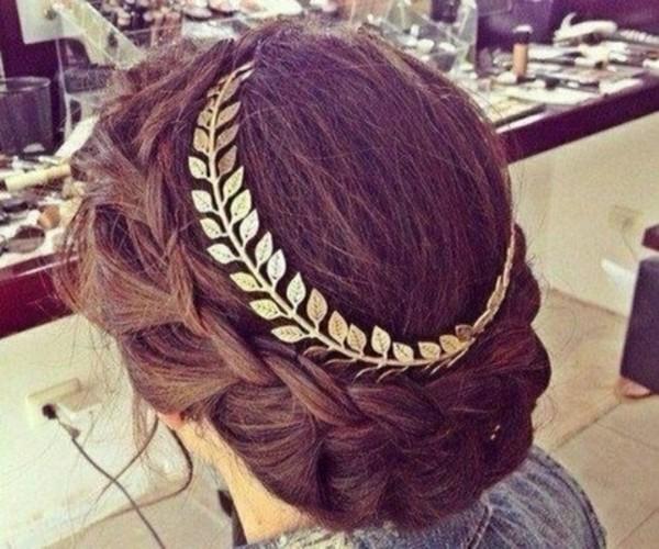 hat gold crown leaves hair tumblr
