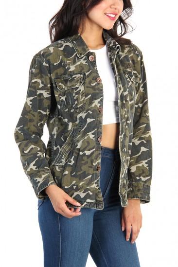 LoveMelrose.com From Harry & Molly | Military Camo Jacket