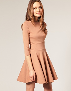 ASOS | ASOS Ponti Fit and Flare Dress at ASOS