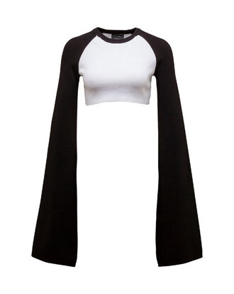 top crop tops long sleeve crop top black and white puma
