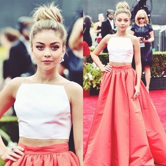 skirt modern family sarah hyland peach salmon