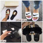 shoes,slide shoes,nike,givenchy,michael kors