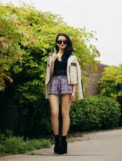 rouge fox,sunglasses,jacket,tank top,shorts,shoes
