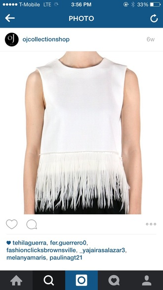 blouse crop tops crop white white top white blouse white crop tops feathers feather tops