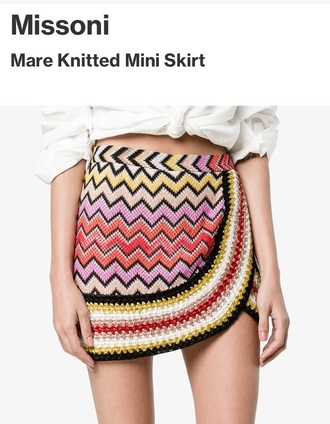 skirt colored pink yellow red white browns fashion browns