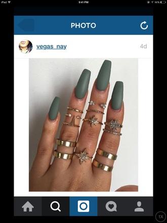 nail polish green olive green matte nail polish nail polish green tumblr girl tumblr girly cute boho jewelry jewels