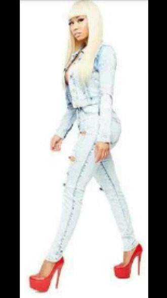 jeans shoes nicki minaj swag