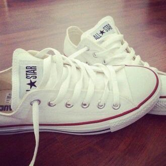 shoes white converse all star red laces low top blouse sneakers chuck taylor all stars white converse white shoes style pretty fashion