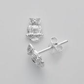 jewels,earrings,owl,jewerly,owl studs