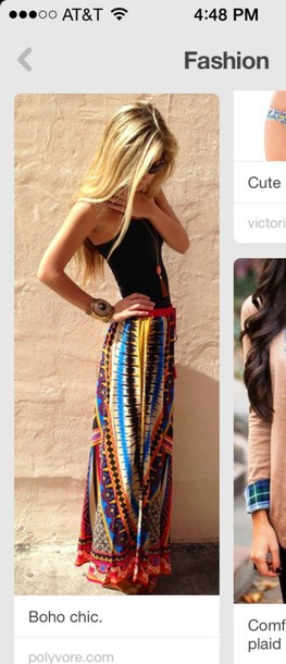 skirt boho chic skirt