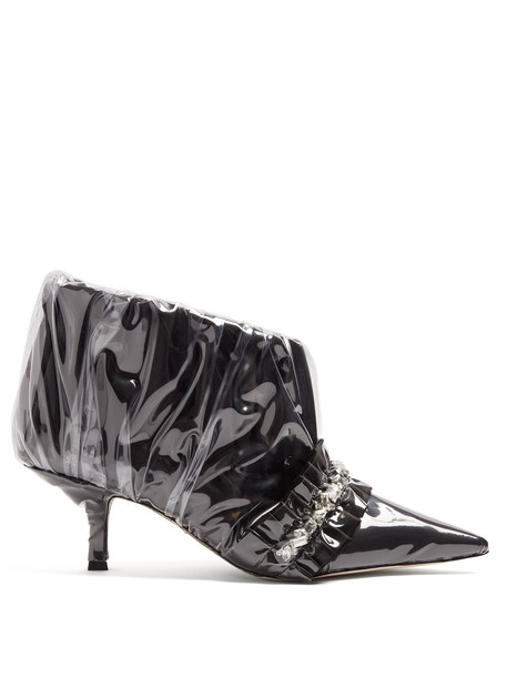PACIOTTI BY MIDNIGHT boot embellished satin black shoes