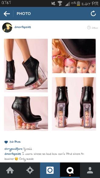shoes barbie heads clear high heels shoewear footwear