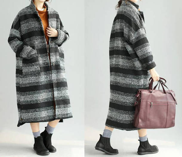 coat large size maxi coat