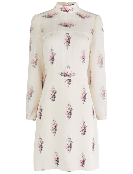 Vilshenko dress mini dress mini floral silk cream