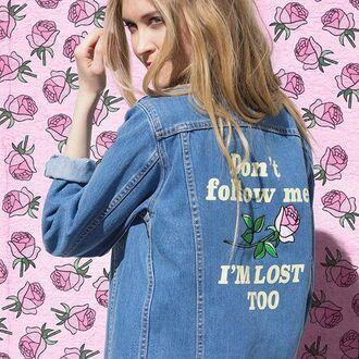 jacket yeah bunny denim cute rose 36683 denim jacket