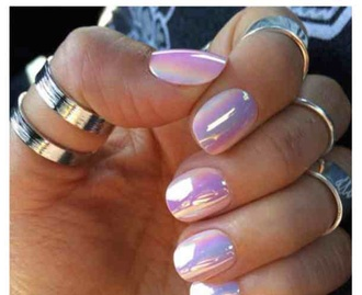 nail polish hologram nails