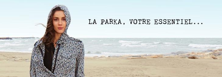Sous la pluie parka, vêtements mode femmes : Comptoir des Cotonniers