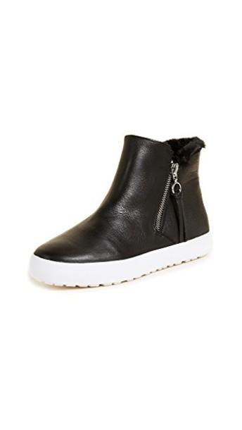 Rebecca Minkoff zip high sneakers high top sneakers black shoes