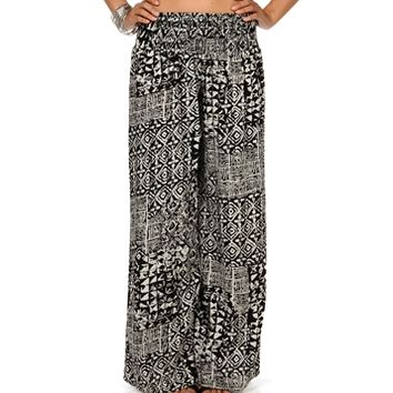 BlackIvory Tribal Palazzo Pants on Wanelo
