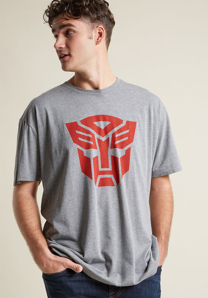 HAS0173-101TGR t-shirt shirt graphic tee t-shirt casual style print grey red top