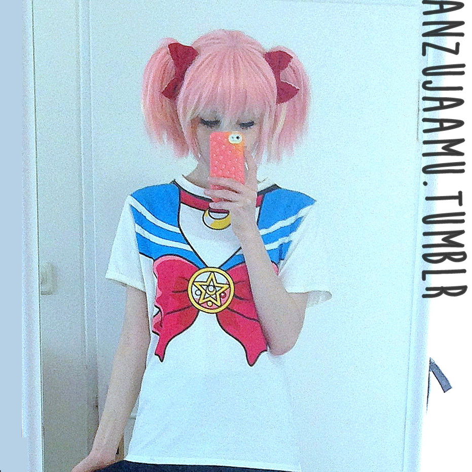 Harajuku sailor moon short sleeve round neck shirt fast free ship sp140524