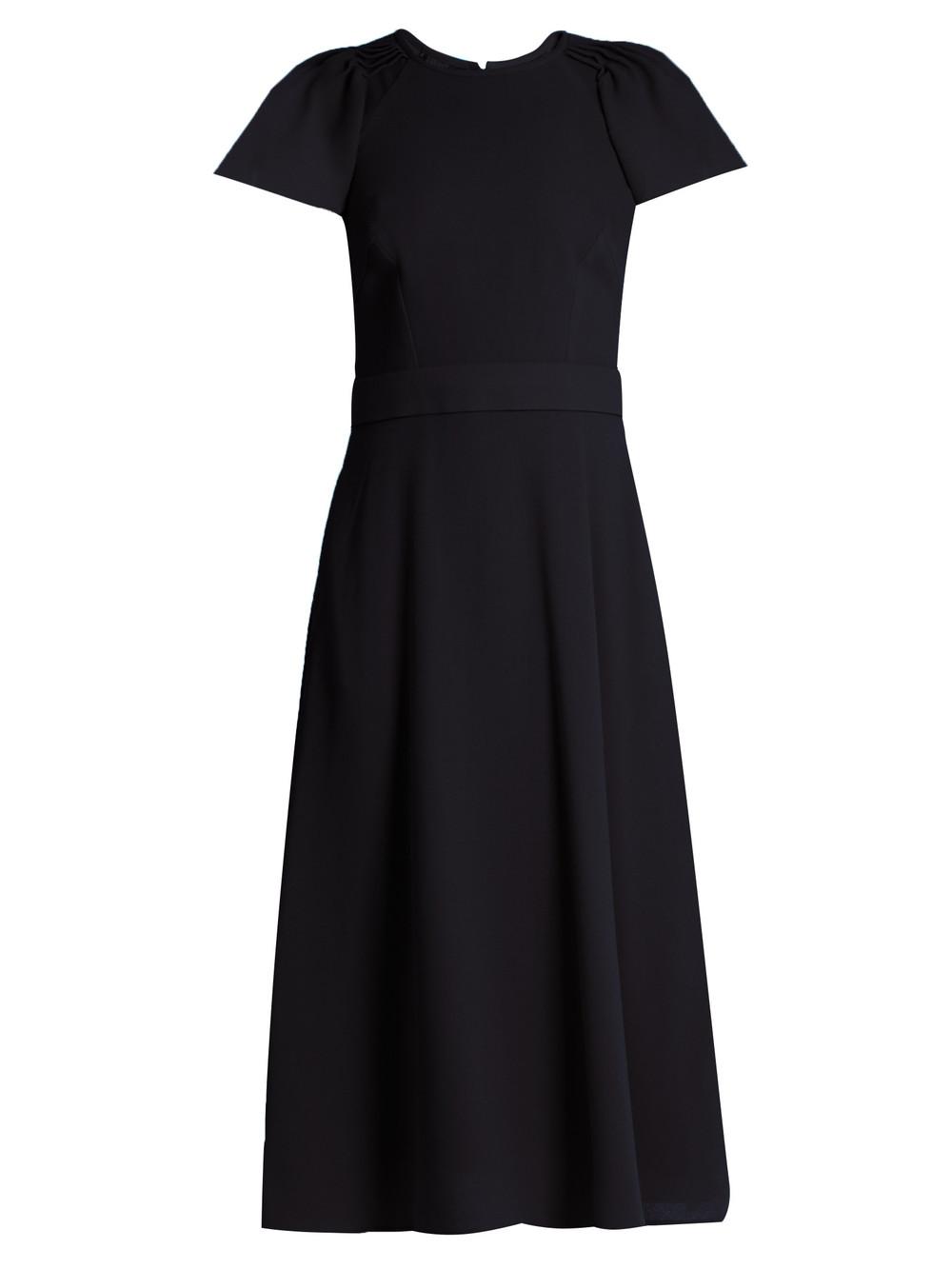 0cc6572c9f0 GOAT Delilah wool-crepe dress - Wheretoget