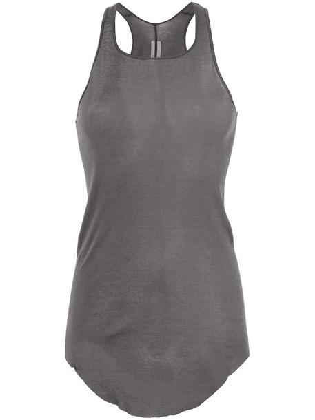 Rick Owens vest back women cotton grey jacket