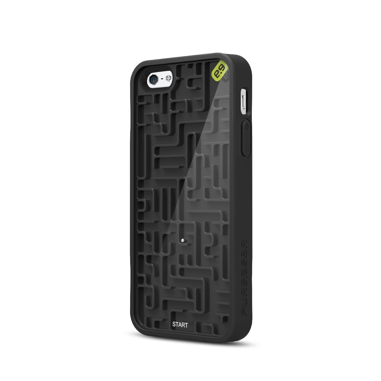 Amazon.com: PureGear Gamer Case for Apple iPhone 5 - A-Maze-Ing - Retail Packaging - Black: Cell Phones & Accessories