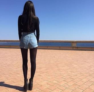 shorts denim shorts high waisted shorts