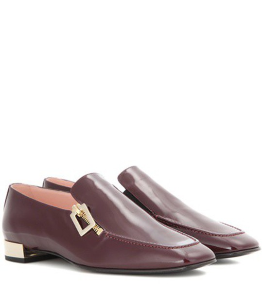Roger Vivier loafers leather red shoes