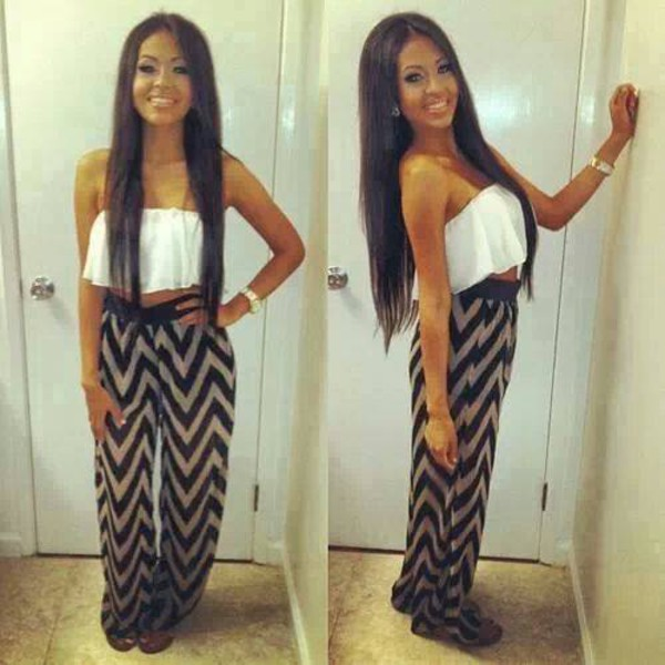clothes chevron pants shirt