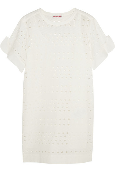 See by Chloé | Broderie anglaise cotton mini dress | NET-A-PORTER.COM