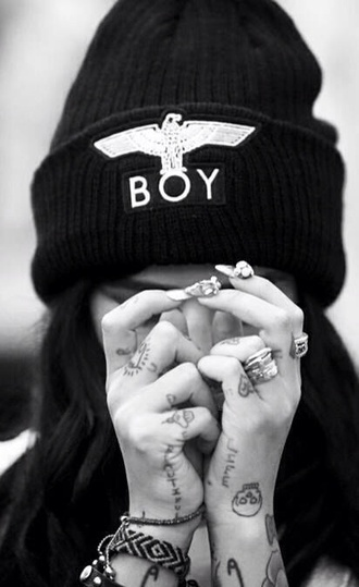 hat black boy boy london