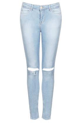 MOTO Rip Bleach Leigh Jeans - Topshop