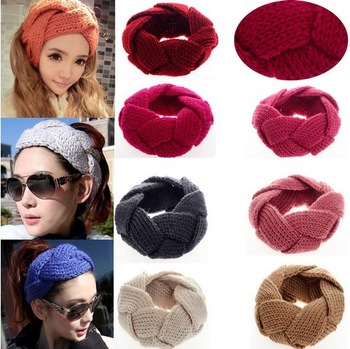 1Pc New Crochet Twist Knitted Headwrap Headband Winter Warmer Hair Band 10 Colors U Pick Fashion hair jewelry [CW05004*1]-in Hair Accessories from Apparel & Accessories on Aliexpress.com