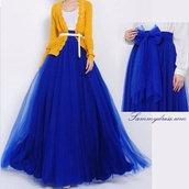 dress,blue,skirt,yellow,maxi skirt