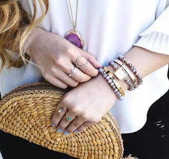 jewels bracelets tumblr jewelry accessories accessory stacked bracelets gold bracelet ring stacked jewelry clutch
