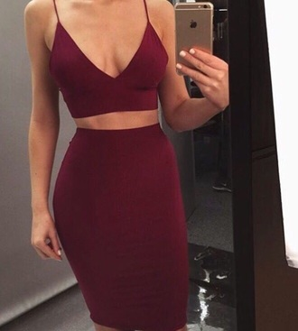 dress burgundy dress two piece dress set two-piece burgundy red bodycon bodycon dress party dress sexy party dresses sexy sexy dress party outfits summer dress summer outfits spring dress spring outfits fall dress fall outfits classy dress elegant dress cocktail dress cute dress girly girly dress date outfit birthday dress clubwear club dress graduation dress homecoming homecoming dress engagement party dress