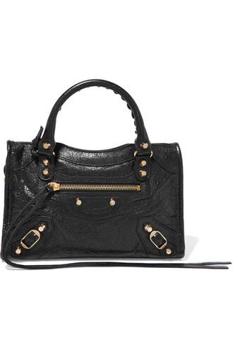 mini classic leather black bag