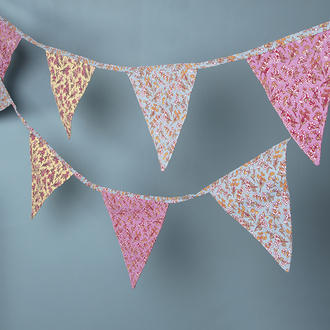 home accessory bunting beautiful picnic party decoration home decor gift ideas accessory flowers pink girly yellow blue kids room