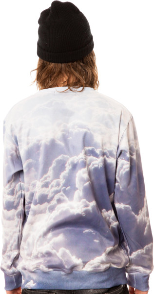 Beloved blue the clouds crewneck