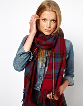 ASOS | ASOS Check Scarf at ASOS