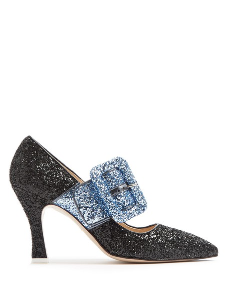 Attico glitter pumps blue black shoes