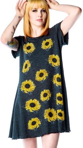 dress sunflower t-shirt dress