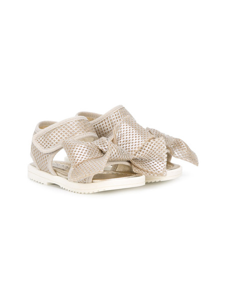 Simonetta mesh sandals grey metallic shoes