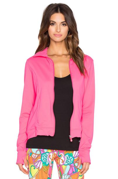 TRINA TURK jacket zip up jacket zip pink